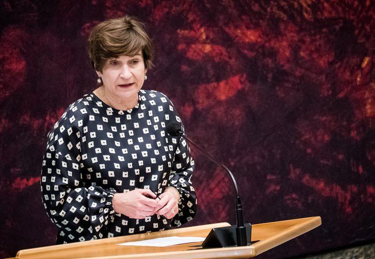 Lilianne Ploumen (PvdA) haalde met de SP en GroenLinks een succesje: grote bedrijven moeten het geld opbrengen dat nodig is om de sociale huren te bevriezen. Beeld Hollandse Hoogte /  ANP