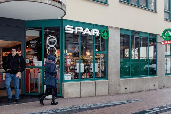De Spar in de Nieuwe Doelenstraat.