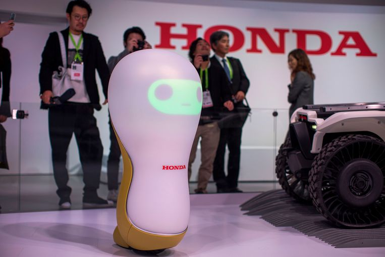 A Honda 3-C18 concept robot is shown at CES in Las Vegas, Nevada, January 9, 2018. / AFP PHOTO / DAVID MCNEW Beeld AFP