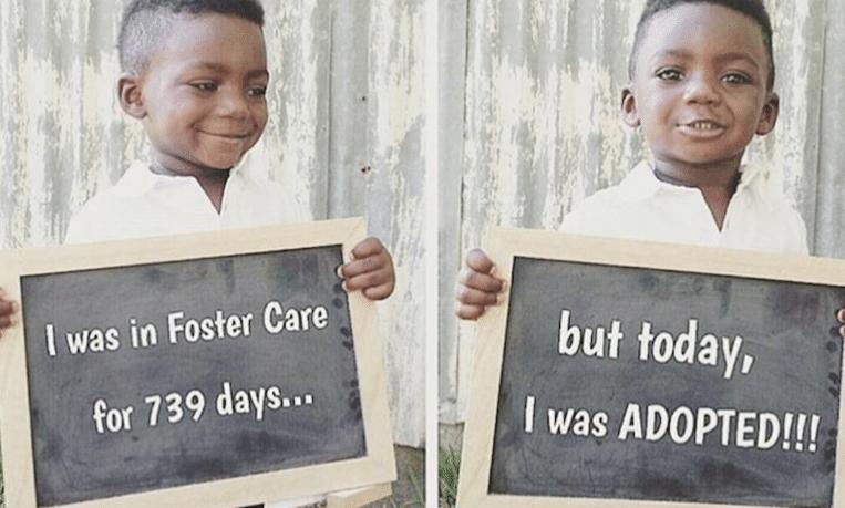 11 hartverwarmende foto's van kinderen die net zijn geadopteerd