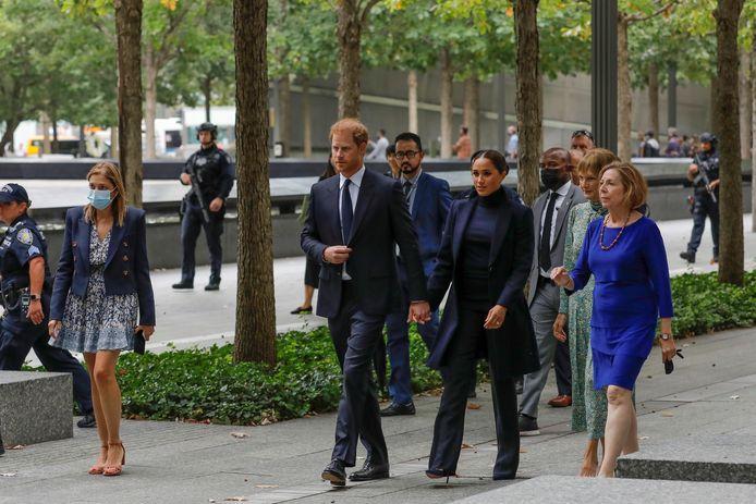 Een blik op het bezoek van Harry en Meghan Markle aan het 9/11 Memorial in Manhattan.