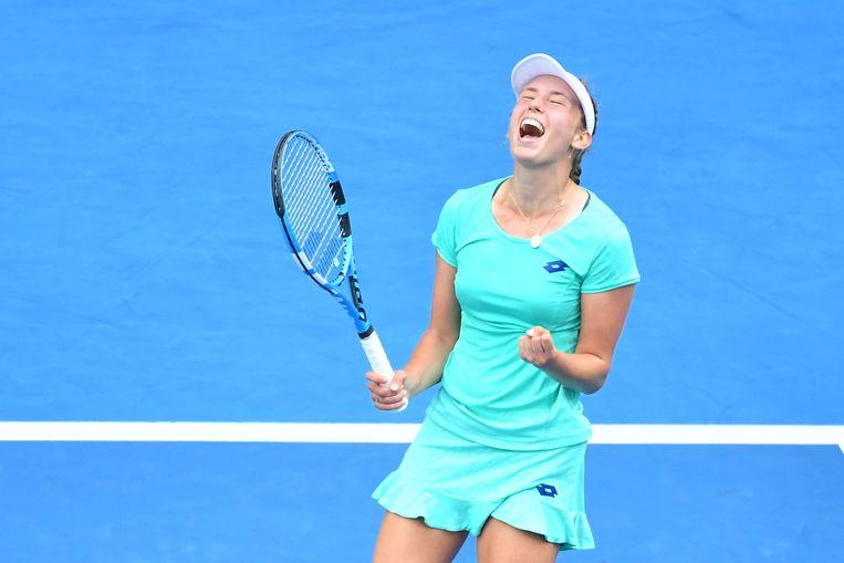 Elise Mertens wist zich afgelopen weekend te plaatsen voor de kwartfinales van de Australian Open. Beeld Photo News