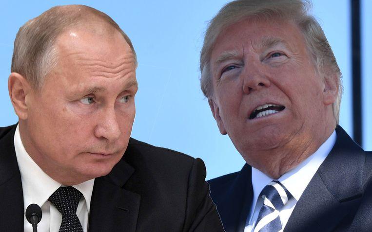 """""""Rusland respecteert het verdrag niet"""", zegt Trump. """"We gaan het dus beëindigen."""" Beeld AFP/AP"""