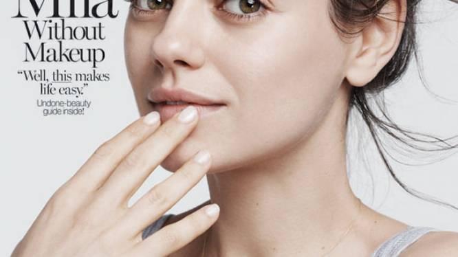Mila Kunis prijkt zonder make-up op de cover van Glamour