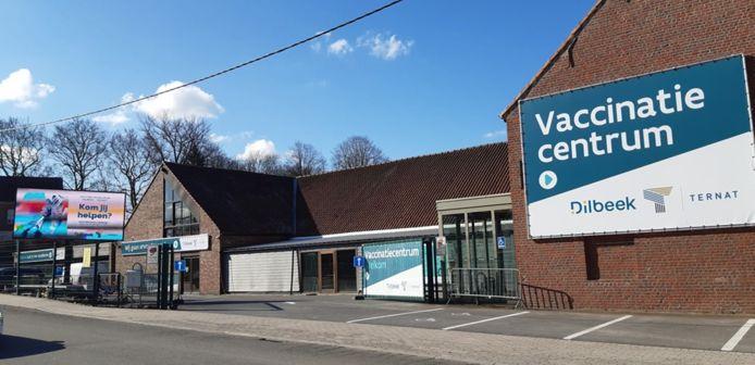 Het vaccinatiecentrum van Dilbeek en Ternat.
