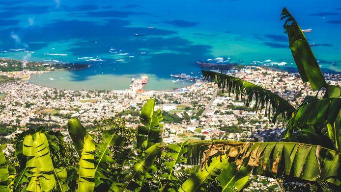 Vue aérienne sur Puerto Plata, en République dominicaine.