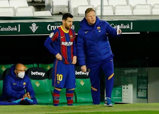Lionel Messi en Ronald Koeman.