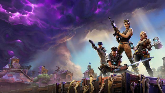 Een beeld uit online game Fortnite.