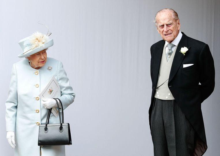 Koningin Elizabeth II en haar echtgenoot prins Philip.  Beeld AFP