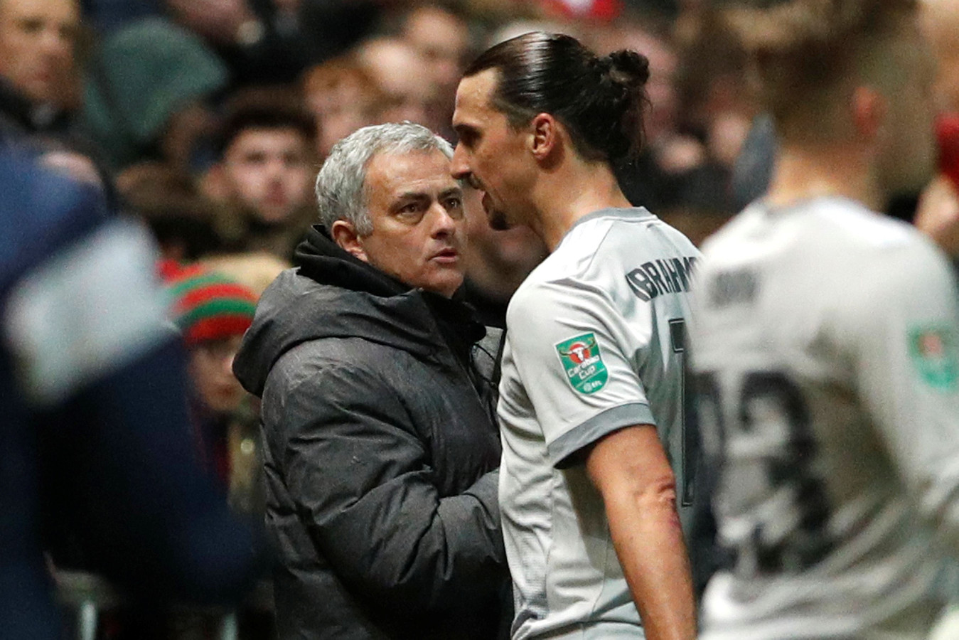 December 2017: Zlatan met Mourinho bij Manchester United.
