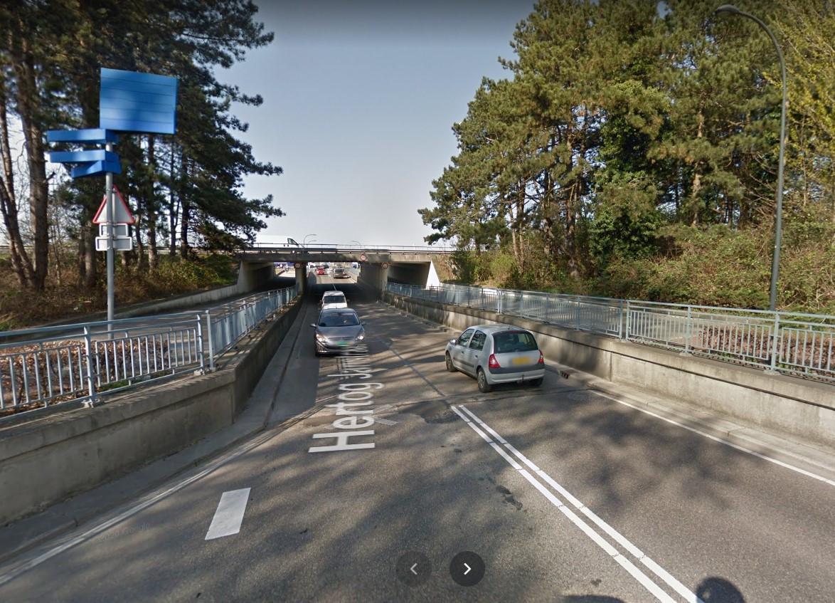 Het viaduct van de Hertog Janstraat.