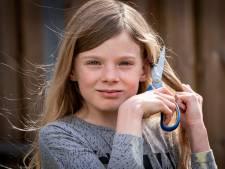 9-jarige Evy heeft centimeters haar gespaard voor zieke kinderen die kaal worden door chemo