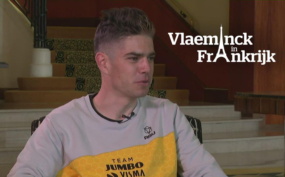 Wout van Aert in gesprek met Stijn Vlaeminck.