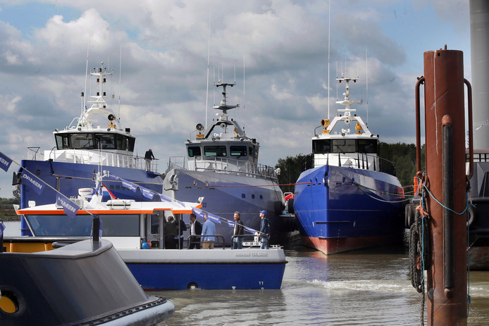 Damen Shipyards Group is op vrijwel alle werven nog aan het werk.