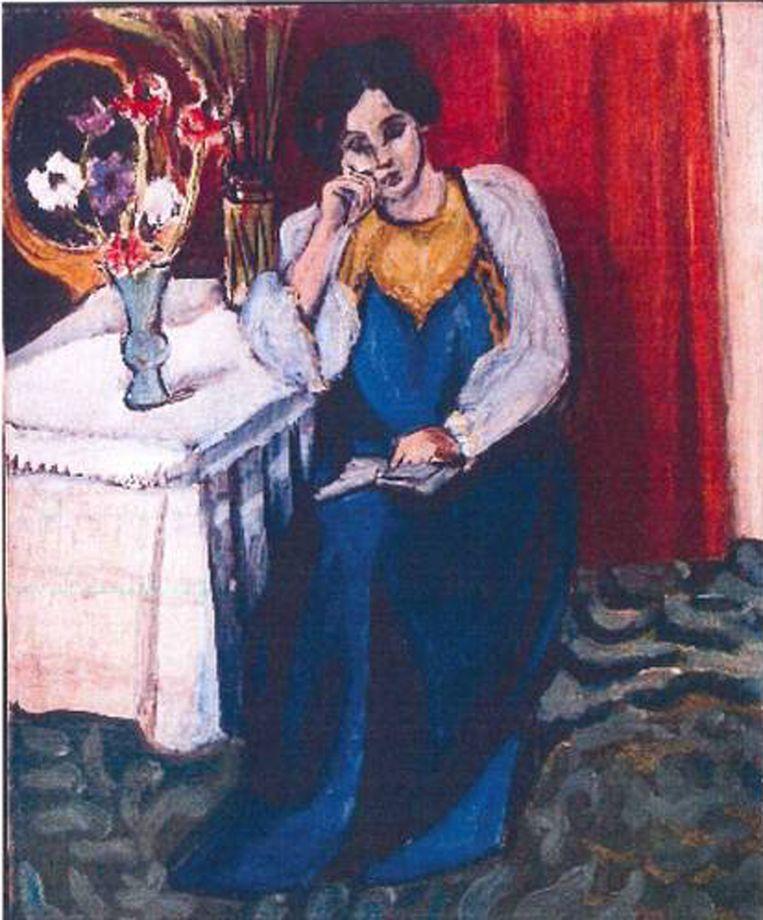 Henri Matisse: 'la Liseuse en Blanc et Jaune' (1919)<br /><br /><strong>De schilderijen die vorig jaar uit de Kunsthal in Rotterdam zijn gestolen, zijn hoogstwaarschijnlijk allemaal verbrand. Het gaat om zeven schilderijen met een geschatte waarde van 18 miljoen euro van onder anderen Monet, Matisse, Picasso en Gauguin. De kunstwerken zijn verbrand in de de woning van de moeder van hoofdverdachte Radu Dogaru in het Roemeense dorpje Carcaliu</strong> Beeld AFP