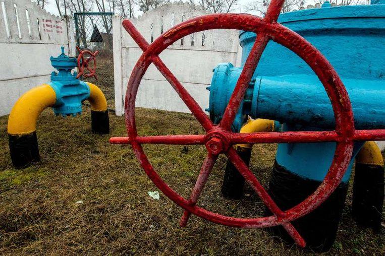 Een kraan op een gasleiding in de buurt van Kiev. Beeld afp