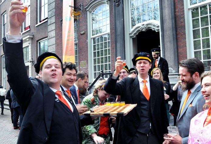 Koningsdag 2018 in Delft.