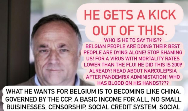 Marc Van Ranst is een geliefd mikpunt van complotdenkers. Beeld red