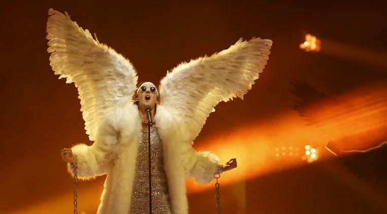 TIX uit Norwegen met het nummer Fallen Angel. Beeld EPA