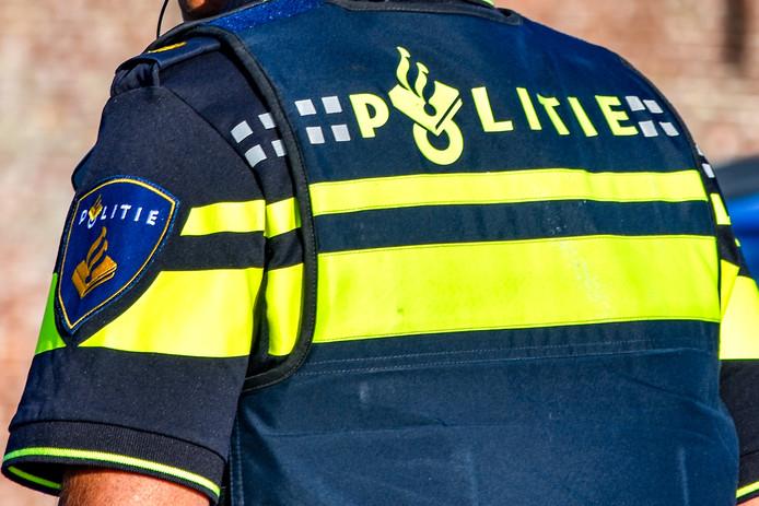 De politie aanwezig bij een ongeval.