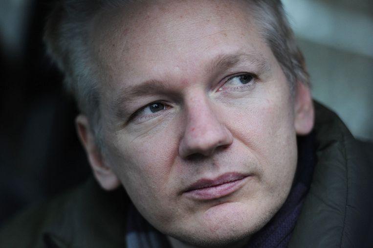 WikiLeaks-voorman Julian Assange. © afp Beeld