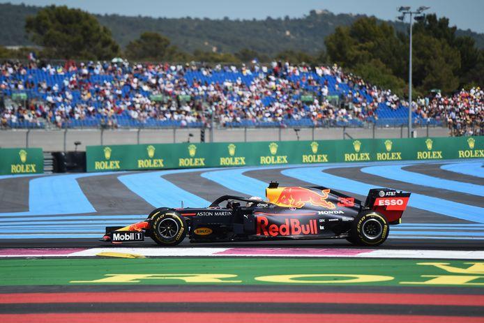 Max Verstappen op het circuit Paul Ricard in  2019.