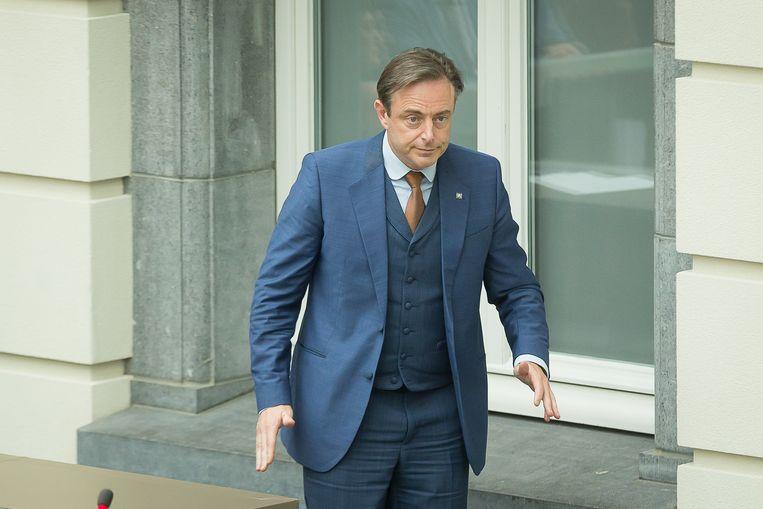 Bart De Wever (N-VA) wordt wellicht minister-president in de volgende Vlaamse regering. Beeld BELGA