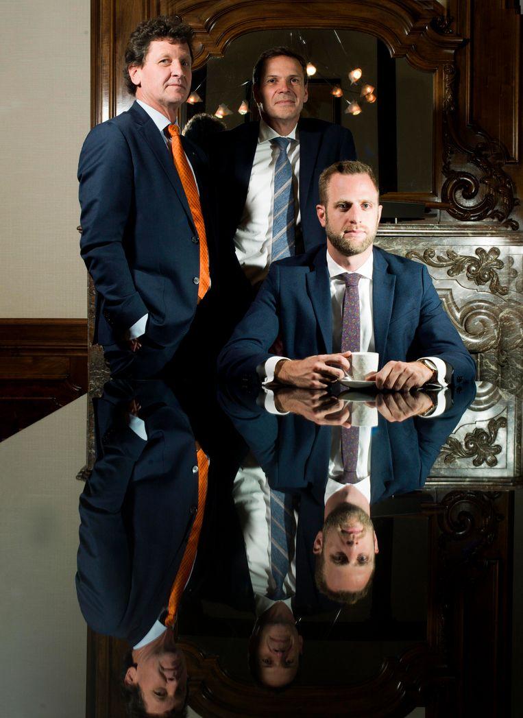Wesselman Accountants in Helmond. Van links af: Arno Aarts, Joop Kuijpers, Ruud van Poppel. Beeld Eva Roefs