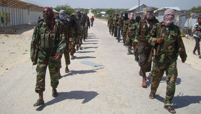 Strijders van al-Shabaab op een archieffoto uit 2012.