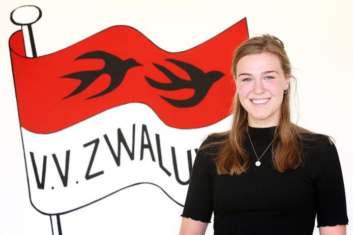 20210614 - Lage Zwaluwe - Fay Bossers (19) speelt voetbal bij de Dames1 van v.v. Zwaluwe. FOTO: PIX4PROFS/ RAMON MANGOLD