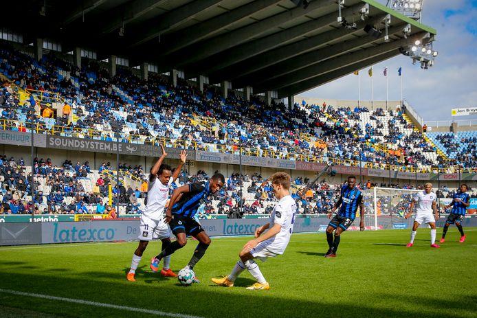 Een beeld uit Club Brugge-Anderlecht van eerder dit seizoen.