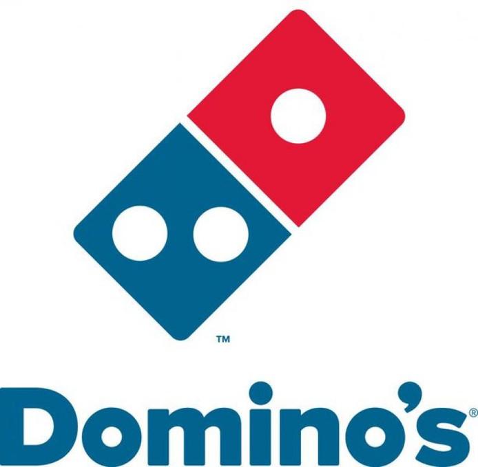 Het logo van Domino's.