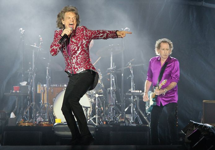 Mick Jagger et Keith Richards sur scène, en 2019