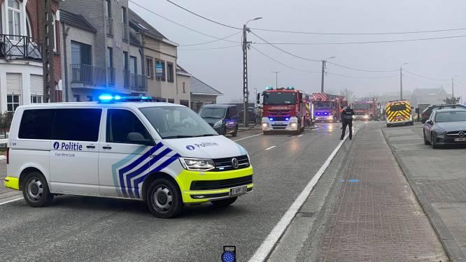 Hoogstraat in Lede deels afgesloten door brand