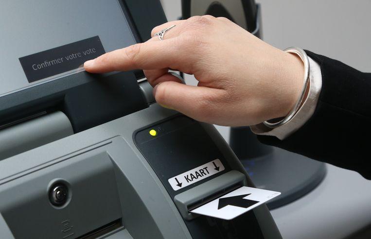Een Belgische stempcomputer. Beeld BELGA