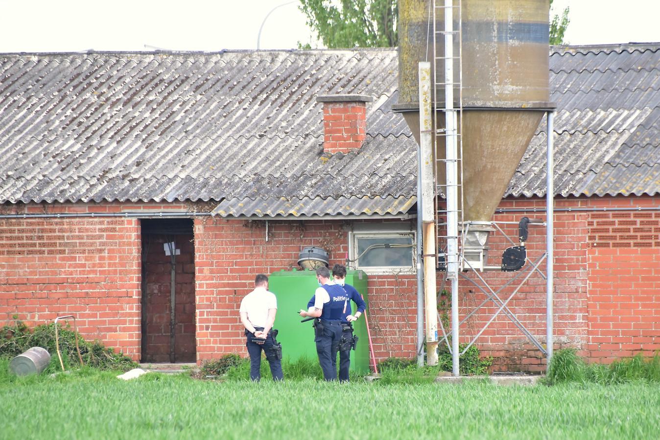 Het drama vond plaats in een varkensstal op een landbouwbedrijf langs de Schendekouterstraat in Geluwe.