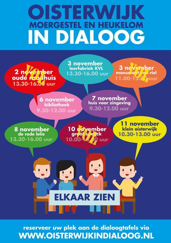 Drie tafels van Oisterwijk in Dialoog zijn al volgeboekt.