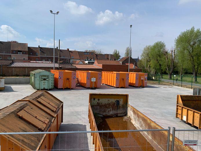 Een beeld van het recyclagepark in de Lage Dreef