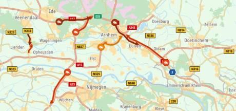 Vakantiefiles rond Arnhem lossen op