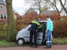Bestuurder wordt onwel achter stuur van brommobiel en knalt tegen boom in Lunteren