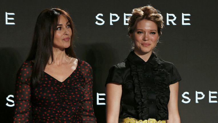 Monica Bellucci en Léa Seydoux zijn de nieuwe Bondgirls. Beeld REUTERS