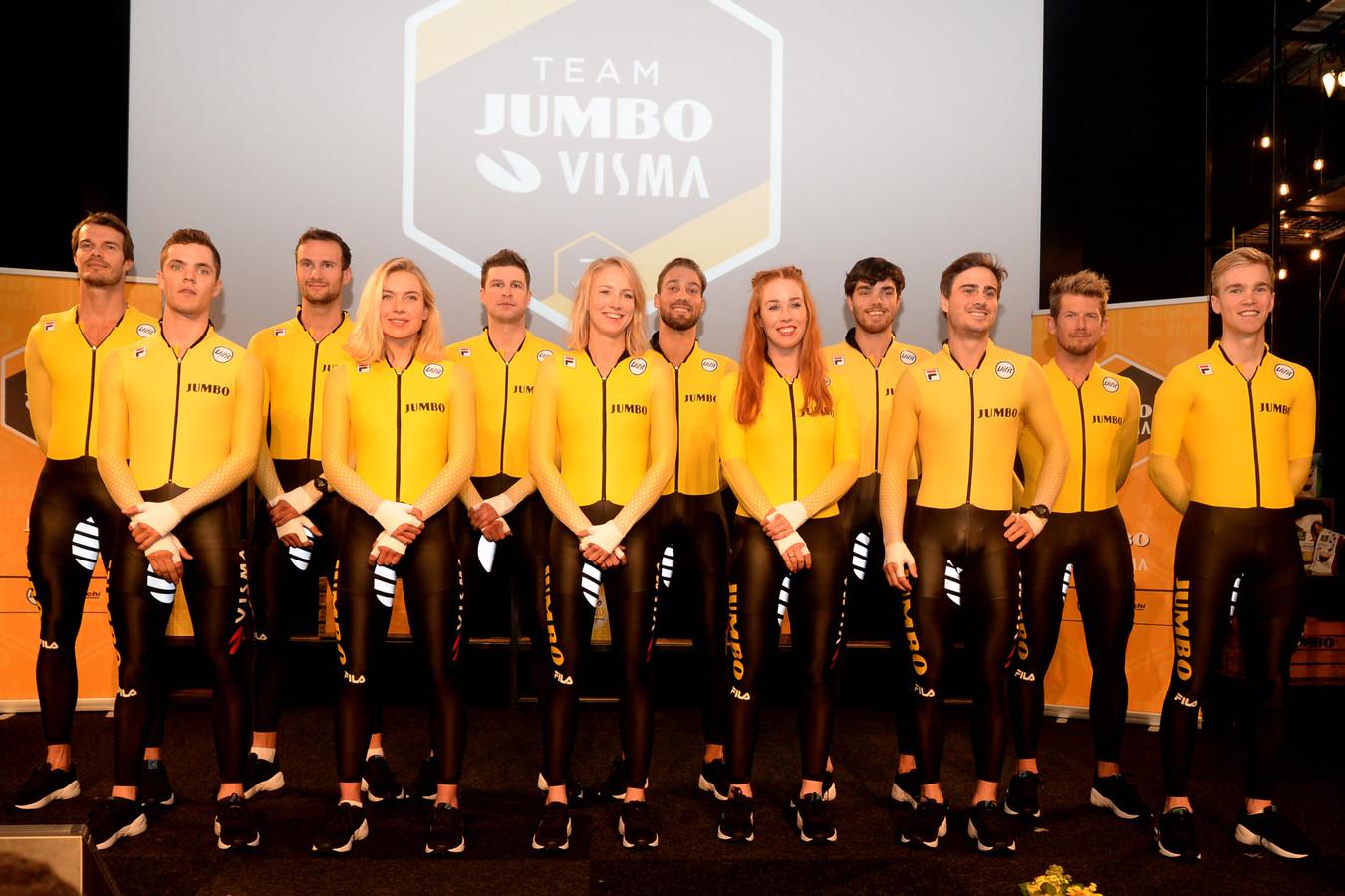 De ploegenpresentatie van Jumbo-Visma eind vorig jaar.