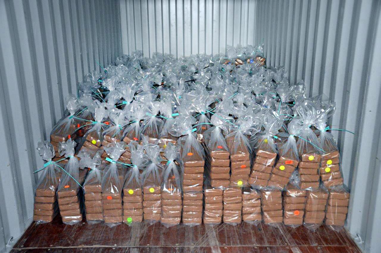 De partij cocaïne die in de haven van Rotterdam werd gevonden.