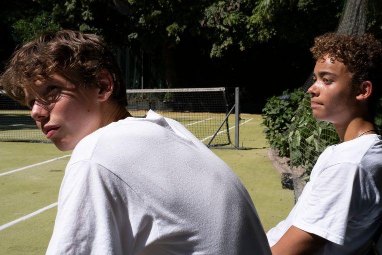 Rens: 'Ik mocht al mijn tennisvrienden uitnodigen. Het was echt heel bijzonder.' Beeld Anneloes Pabbruwee