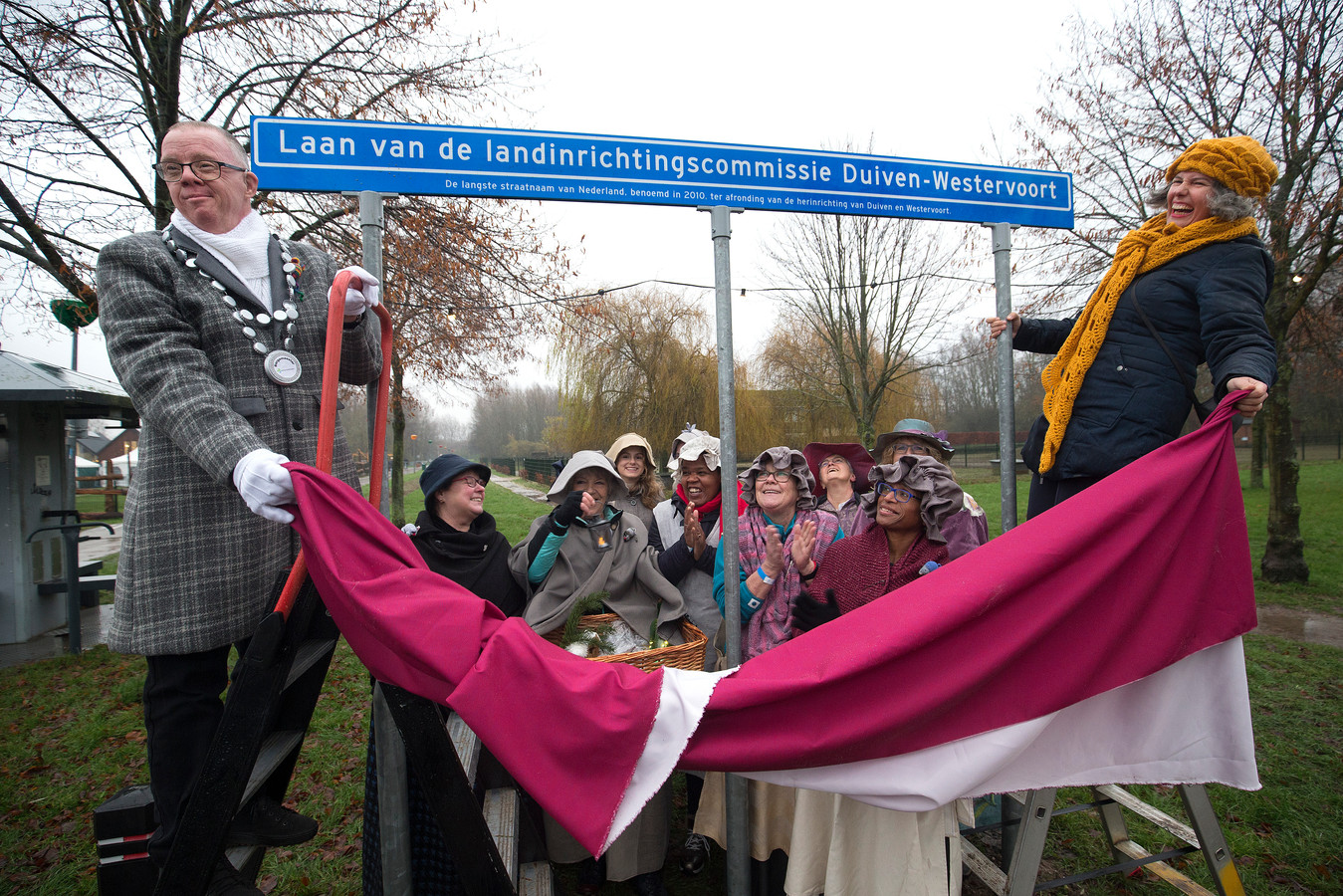 Het langste straatnaambord van Nederland, in Duiven. Foto ter illustratie.
