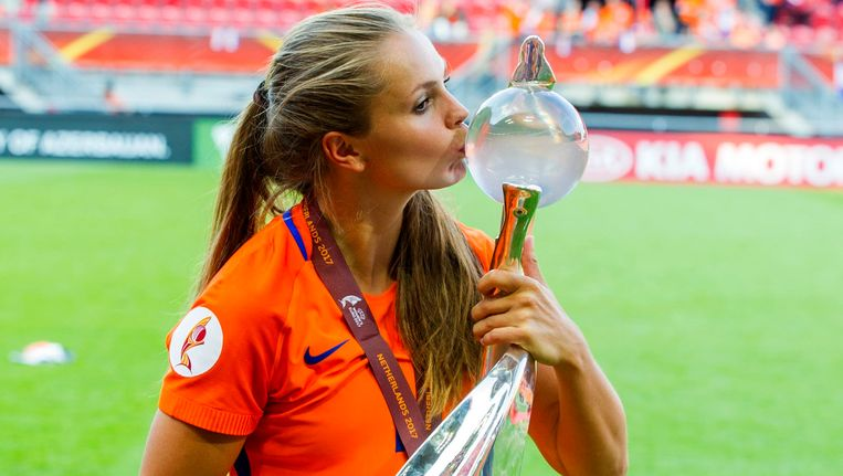 Lieke Martens kroonde zich met de Oranje leeuwinnen tot Europees kampioen. Beeld photo_news