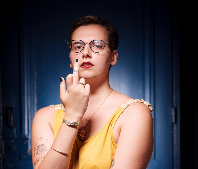Pauline Harmange: 'Er wordt ons verteld dat mannen die verkrachten psychopaten en monsters zijn, maar dat is niet zo. De meeste geweldplegers zijn gewone mannen.' Beeld Magali Delporte / The Telegraph