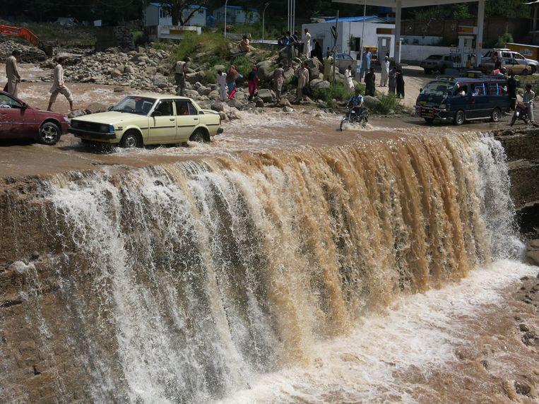 Overstromingen in het Pakistaanse Punjab. Beeld EPA