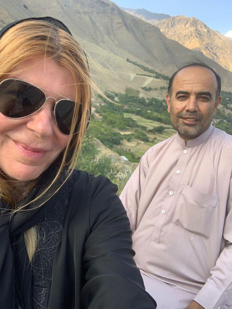 Joanie de Rijke in 2019 in Afghanistan. Beeld rv