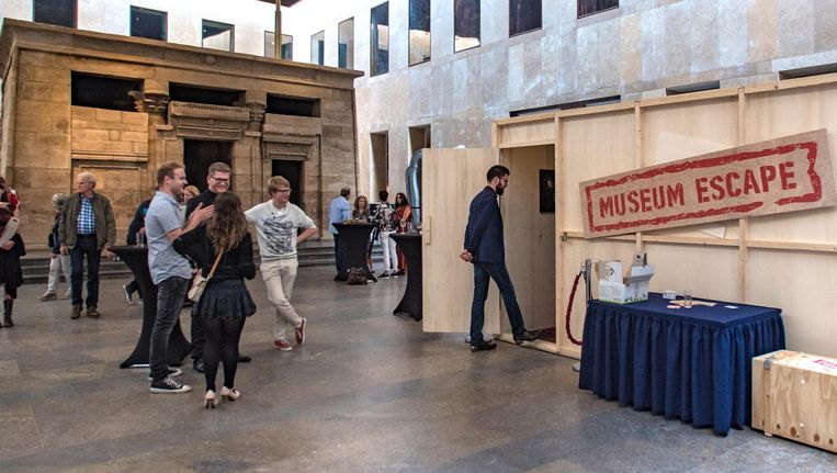 Eerder was de Museum Escape te doen in het Rijksmuseum van de Oudheden in Leiden. Beeld Museum Escape